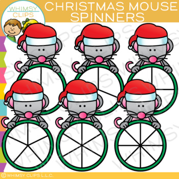 Christmas Mouse Spinners Clip Art
