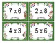 Christmas Multiplication Facts Task Cards