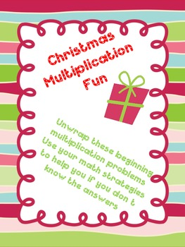 Christmas Multiplication Task Card Practice