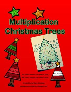 Christmas Multiplication Trees Activity
