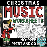 Christmas Music Worksheets- Mega Pack- 87 Pages!