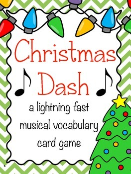Christmas Music Game: Christmas Dash- a music vocabulary game