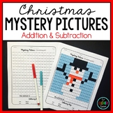 Mystery Pictures Christmas--Addition and Subtraction