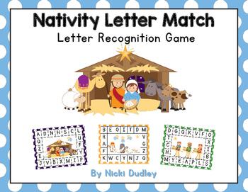Christmas Nativity Letter Match