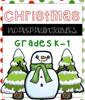 Christmas No Prep Printables Math and ELA