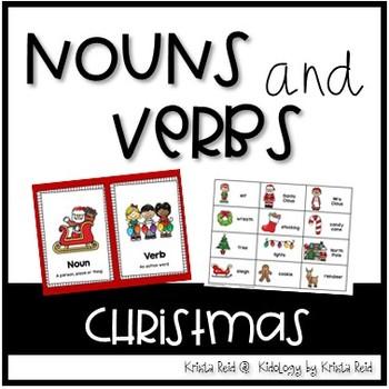 Christmas Noun and Verb Sorting Activity