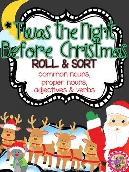 Christmas Nouns, Verbs, & Adjectives - 'Twas the Night Bef