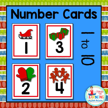 Christmas Number Cards - A Christmas Math Center for Early