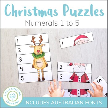 Christmas Number Puzzles - 0 to 5 - Elementary and QLD Beg