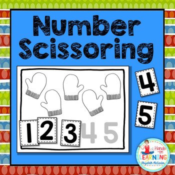Christmas Number Scissoring 1 to 5 - A Christmas Math Cent