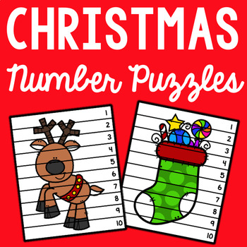 Christmas Number Puzzles - Set of 10
