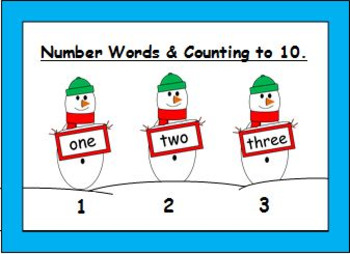 Christmas Number Words Activities