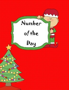 Christmas Number of the Day Worksheet