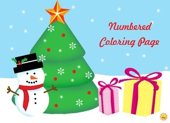 Christmas Numbered Coloring Page