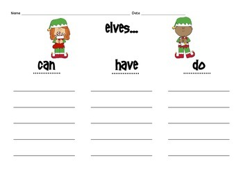Christmas Opinion Writing and Craftivity: Elf or a Reindeer?