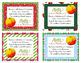 Christmas Orange Gift Tags - Student Gift Idea!