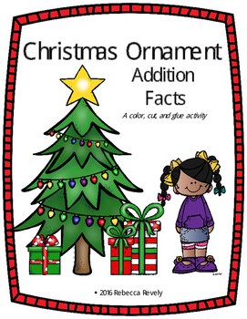 Christmas Ornament Addition Facts Activity
