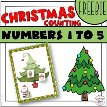 Christmas Ornament Counting Game numbers 1 to 5