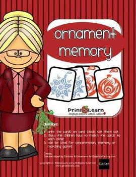 CHRISTMAS ORNAMENT MEMORY {Thank You Gift} for my visitors!!