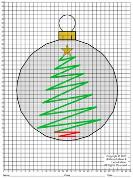 Christmas Ornament, Coordinate Drawing & Graphing, Mystery