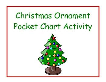 Christmas Ornament Pocket Chart Activity