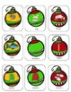 Christmas Ornaments! 1 & 2 Syllable Words and Categories Packet