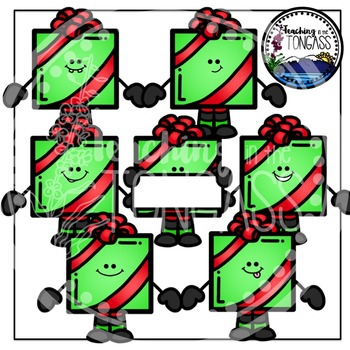 Christmas Gifts Clipart Bundle