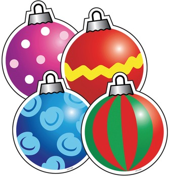 Christmas Ornaments - Colorful Holiday Cut-Out Decor