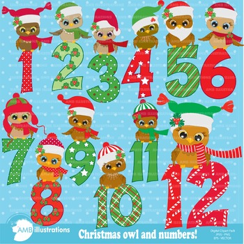 Christmas Owls and Numbers AMB-361