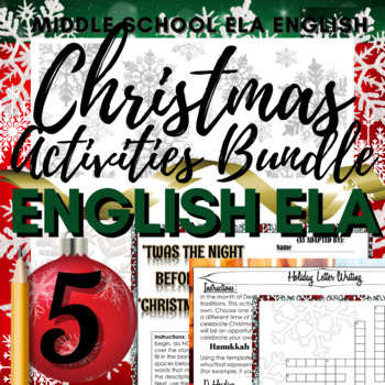 """Christmas Packet: Word Search, Crossword Puzzle, """"Mad Libs"""
