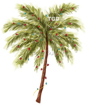 Christmas Palm Tree clip art, Printable Tracey Gurley Designs