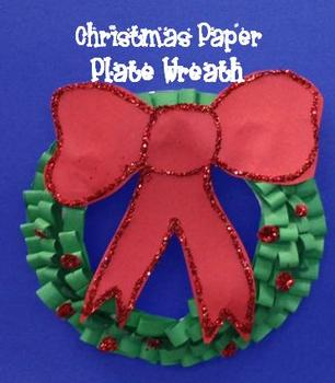 Christmas Paper Plate Wreath