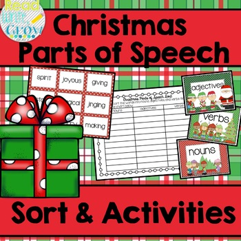 Christmas Parts of Speech Sort & Activities