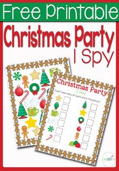 I Spy Counting: Christmas