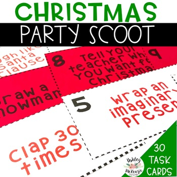 Christmas Party Scoot Activity (30 Cards!)