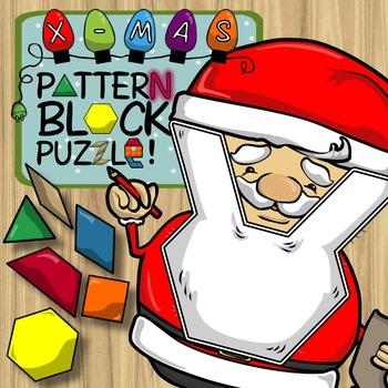 Christmas Pattern Block Puzzles