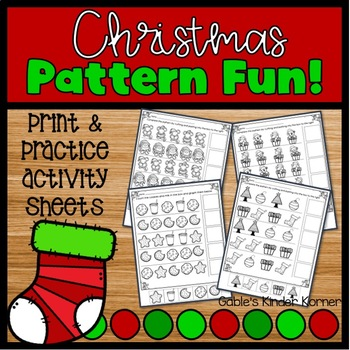 Christmas Patterns *NO PREP*