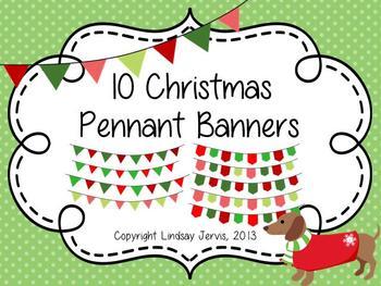 Christmas Pennant Banner Clipart