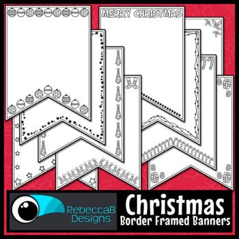 Christmas Pennant Doodle Borders