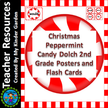 Christmas Peppermint Candy Dolch Second Grade Sight Word F
