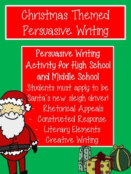 Christmas Persuasive Writing for High School