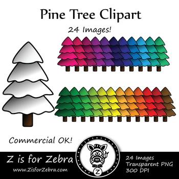 Christmas / Pine Tree Clip Art - CU Ok { Z is for Zebra }