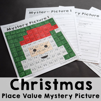 Christmas Place Value 100s Chart Mystery Picture Freebie by Teaching in the Primary Grades