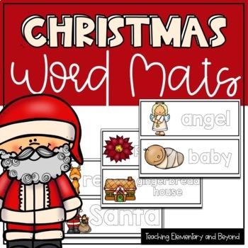 Christmas Play Dough Word Mats