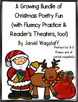 Christmas Poetry Growing Bundle with Fluency Practice and
