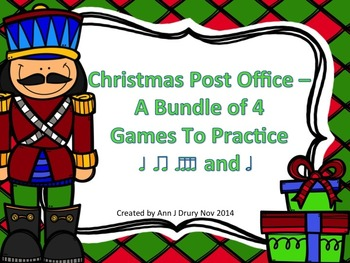 Christmas Post Office - 4 Games for Rhythm Practice