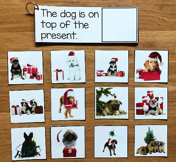 Christmas Prepositions and Matching Activities w/Real Photos