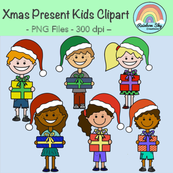 Christmas Present Kids Clipart