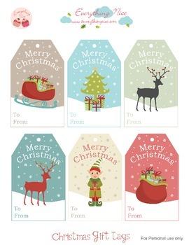 Christmas Printable Gift Tags2