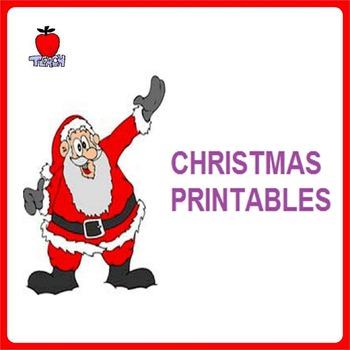 Christmas Printables for Home and Classroom PreK - 1st Grade